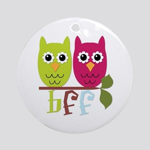 BFF Best Friends Forever Owls Ornament (Round)